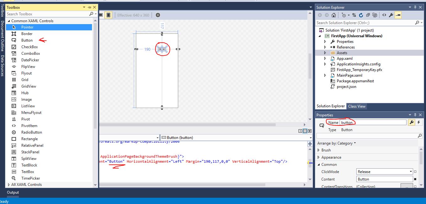 Add button-XAML code-namechange