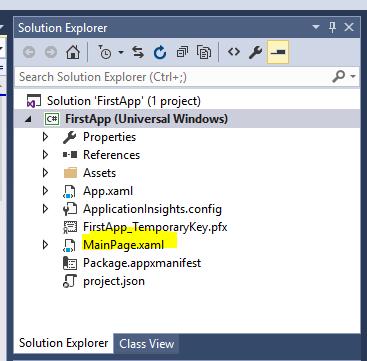 Solution Window MainPage